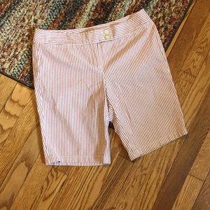 Ann Taylor Signature Fit Stripe Shorts